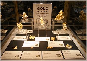 ゴールドも展示されていました