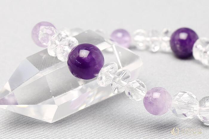 アメジスト ブレスレット 水晶ミックス(結婚運)