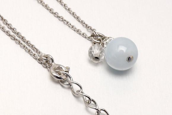 アクアマリン・水晶カット ネックレス