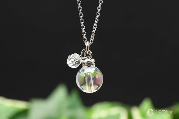 オーロラ水晶・水晶カット ネックレス