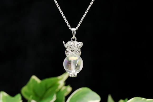 オーロラ水晶 ネックレス クリオネ