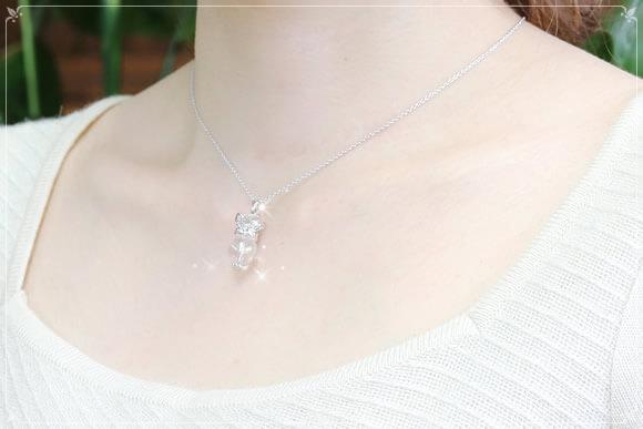 オーロラ水晶 パワーストーンネックレス クリオネ