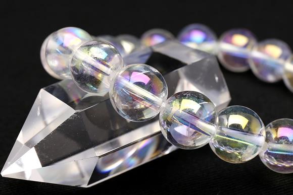 オーロラ水晶 ブレスレット 10mm