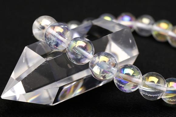 オーロラ水晶ブレスレット 8mm