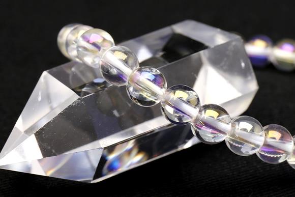オーロラ水晶ブレスレット 6mm