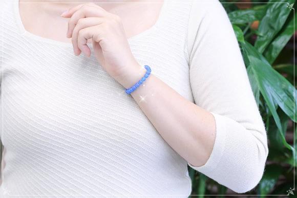 青メノウ ブレスレット 6mm