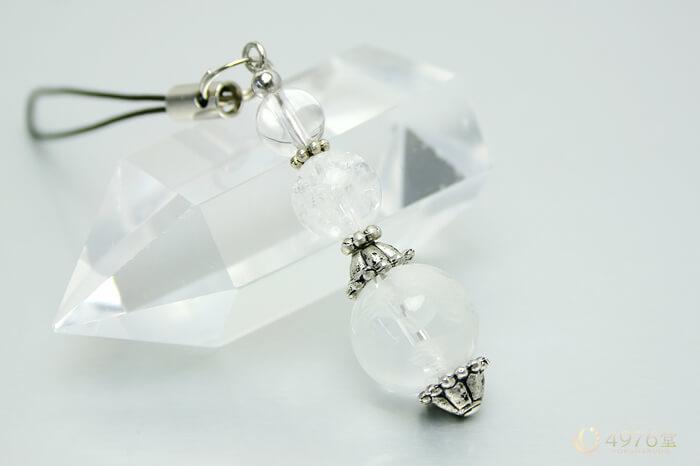 白虎水晶・クラック水晶 パワーストーンストラップ