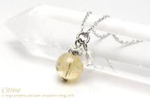 シトリン・水晶カット ネックレス