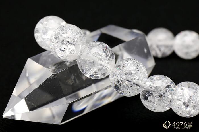 クラック水晶 ブレスレット 10mm