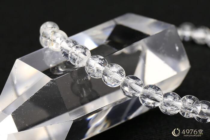 クラック水晶 ブレスレット 4mm