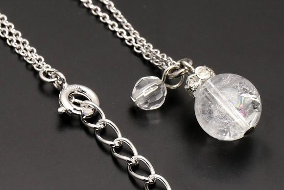 クラック水晶・水晶カット ネックレス