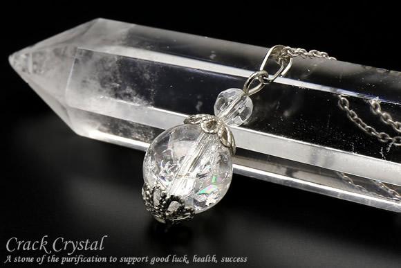 クラック水晶 ネックレス 10mm