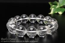 水晶 ブレスレット 14mm