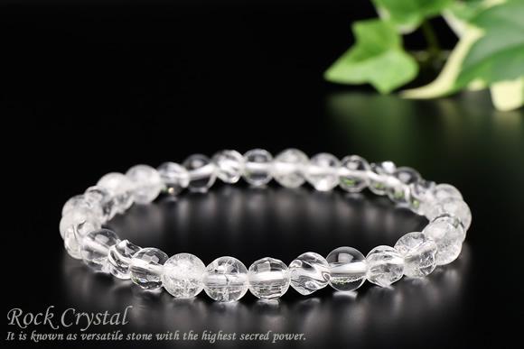 水晶・クラック水晶 ブレスレット 6mm