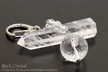 水晶 キーホルダー 20mmカットメイン