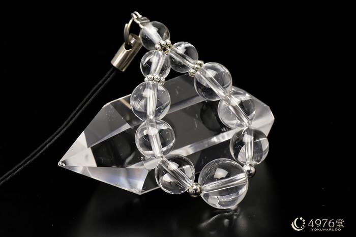 水晶 ストラップ 10mmメイン