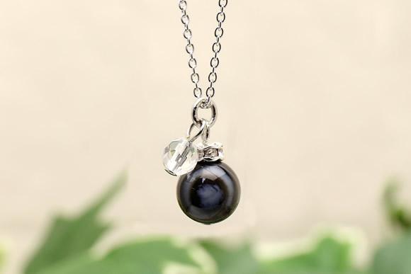 天眼石・水晶カット ネックレス