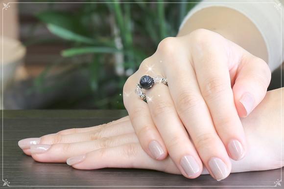 天眼石・マラカイト・水晶 リング(守護)