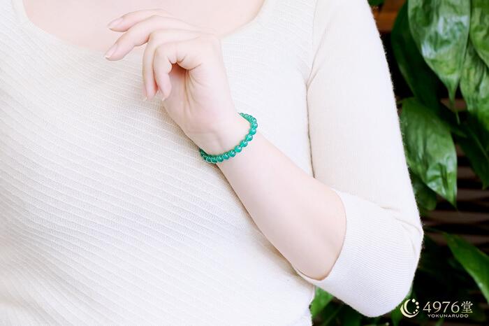 緑メノウ ブレスレット 6mm