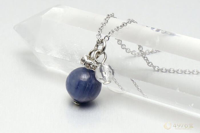 カイヤナイト・水晶カット ネックレス