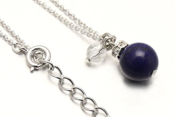 ラピスラズリ・水晶カット ネックレス