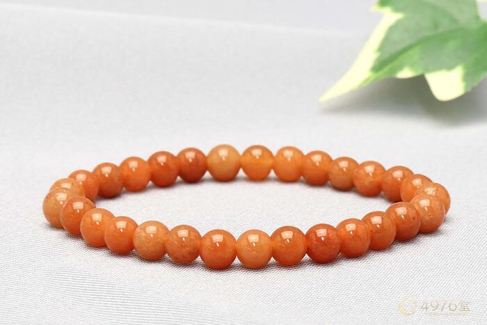 オレンジアベンチュリン ブレスレット 6mm