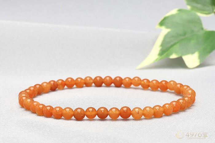 オレンジアベンチュリン ブレスレット 4mm
