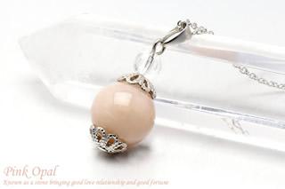 ピンクオパール ネックレス 10mm