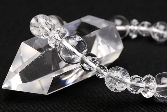 水晶・クラック水晶 ブレスレット 10mm5ポイント