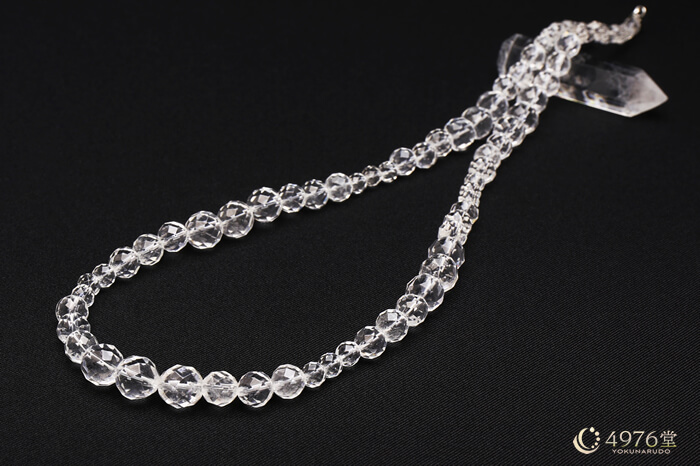 水晶カット ネックレス60cm