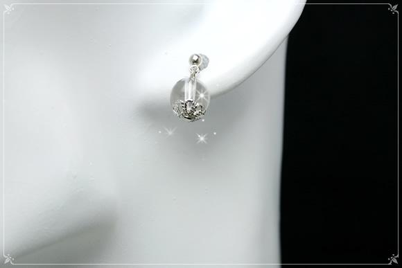 水晶 ピアス スタッド