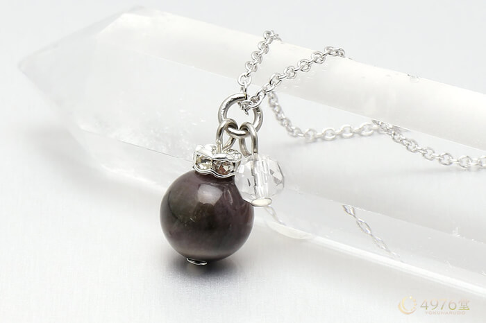 トルマリン・水晶カット ネックレス