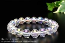 オーロラ水晶ブレスレット 10mm