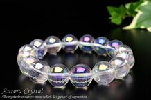 オーロラ水晶ブレスレット 12mm