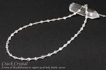 クラック水晶 パワーストーンネックレス 4mm+2mm