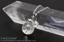クラック水晶・水晶カット パワーストーンネックレス