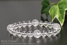 水晶・バラ水晶 パワーストーンブレスレット