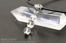 水晶 パワーストーンネックレス 三連