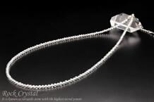 水晶ネックレス 約42~46cm