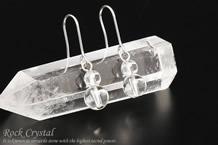 水晶 パワーストーンピアス シンプル6mm