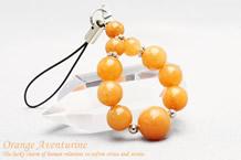 オレンジアベンチュリン パワーストーンストラップ 10mmメイン