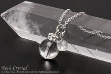 水晶 パワーストーンネックレス 水晶カット
